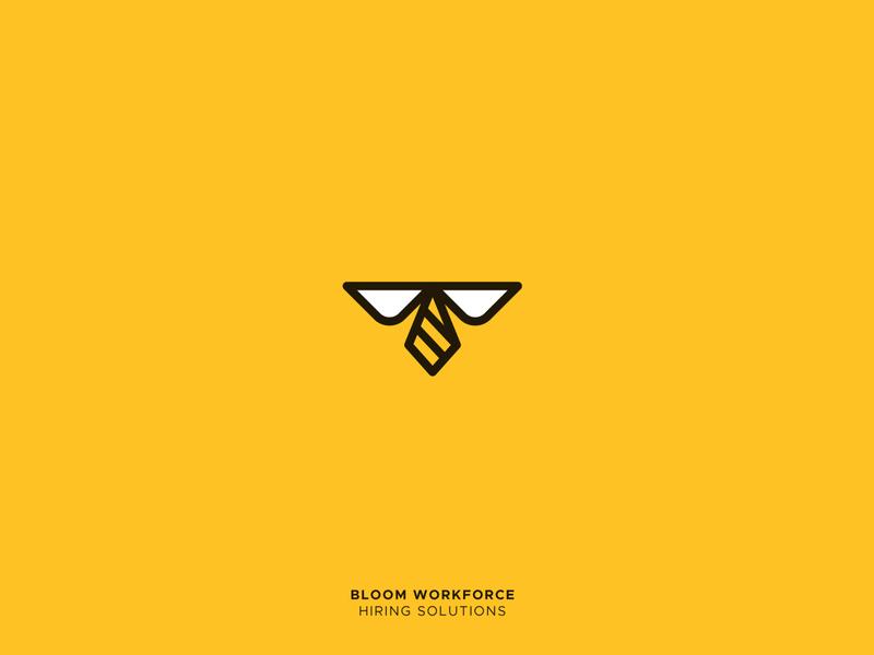 Bloom Workforce office honeybee bee logo animal vector 36daysoftype grid logo creative design illustration icon mark logo alphabet design logo