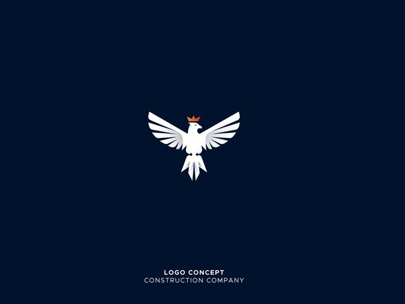 Eagle concept crown logo earth creative logo crown falcon logo eagle logo bird logo animal illustration 36daysoftype creative design clever logotype design alphabet gradient logo