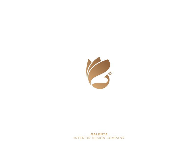 Galenta bird logo peacock logo g logo brand identity design grid logo alphabet 36daysoftype animal creative design icon mark logo design gradient logo
