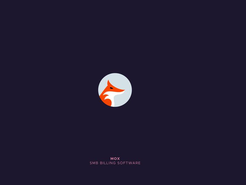 Mox negative space logo fox illustration smb billing software logo logo folio animal logo fox logo grid logo animal clever creative design icon mark logo design logo
