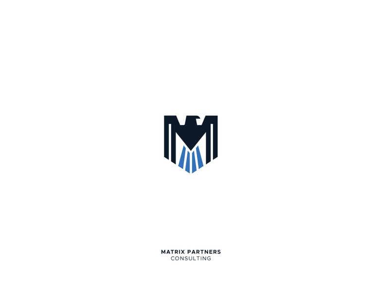 Matrix partners logo folio animal logo bird logo smb startup consulting eagle logo shield logo brand identity design type animal branding logotype creative design illustration icon mark logo design logo