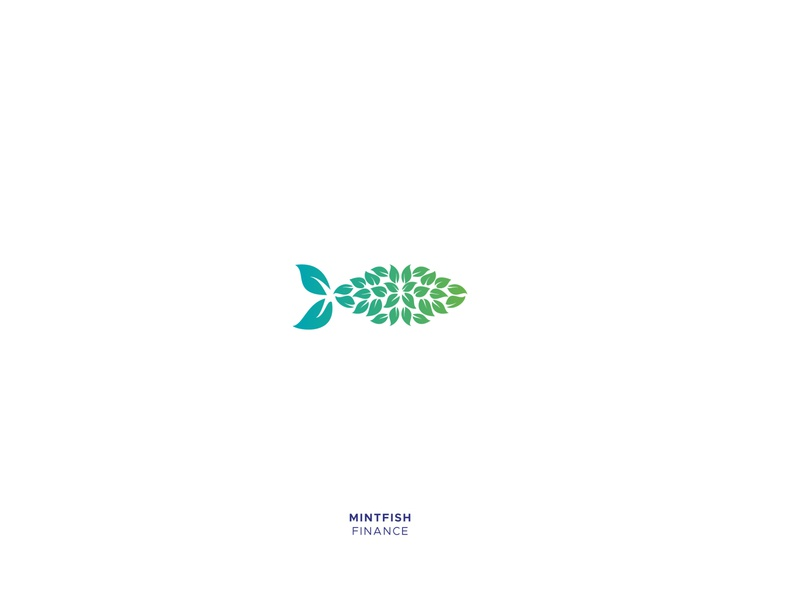 Mintfish startup branding finance business animal logo leaf leaves fish logo brand identity design animal alphabet illustration grid logo branding creative design icon mark logo design logo