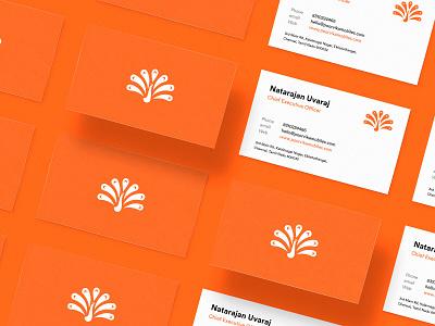 Poorvika Brand Identity animal bird logo design retailer graphic design orange white design peacock logo icon mark logo brand identity design