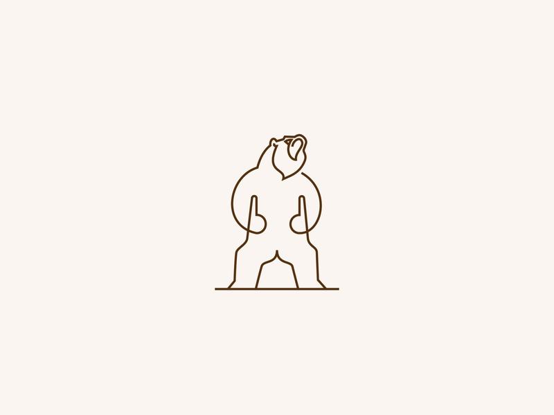Bear 🐻 logo designer clever 2020 roar animal series bear logo animal icon mark logo creative design line logo monoline logo logo