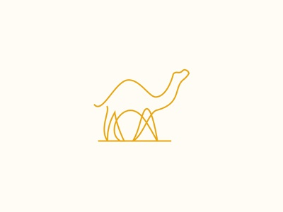 Camel 🐪 minimalist logo logo design concept brand designer brand design desert linelogo animal logo camel logo creative design branding icon mark logo logo