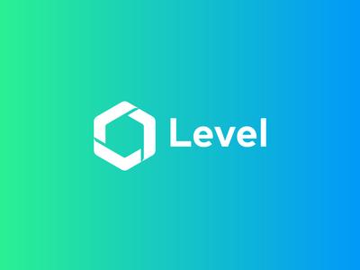 Level logo concept