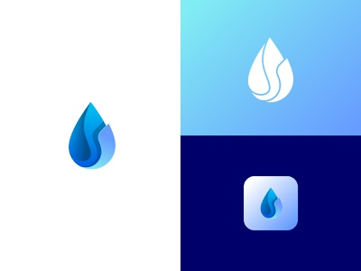 Drop water logo creative logo design depth of field icon mark logo creative design design logo circle gradient icon gradient water blue drop
