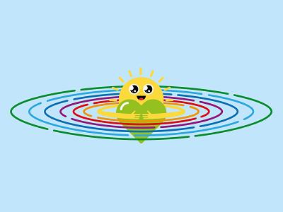 Mr P Kindness character design vector illustration