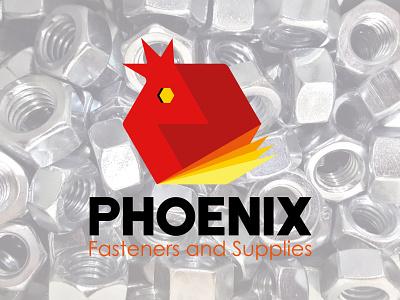 Phoenix Fasteners and Supplies Logo design brand identity logo design corporate branding logo vector