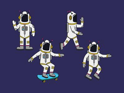 AstroDude stationery vector character design illustration