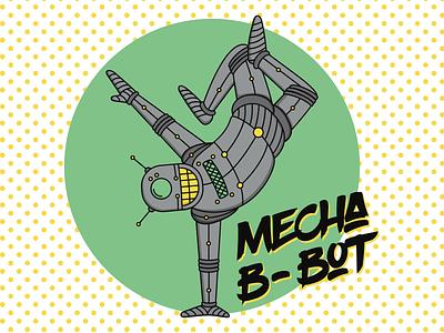 Mecha-B-Bot robot adobe illustrator vector character design illustration