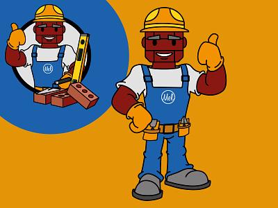 Baksteen Mel Mascot mascot design mascot brand identity branding character design vector illustration