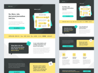 Scroll Landing Page tech company startup website sass marketing campaign marketing design landing page design responsive ui design web design marketing landing page