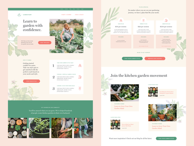 Gardenary Home web design responsive design landing page marketing design