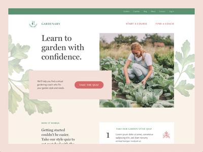 Scrolling Gardenary Homepage marketing design marketing marketing website responsive web design website design website ux ui ux design web design ui design