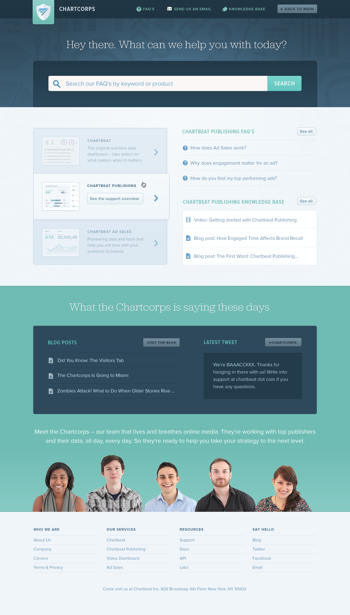 Chartcorps homepage