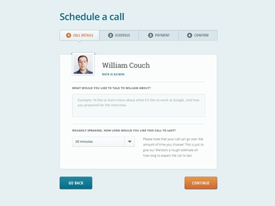 Shyne Call Schedule Steps marketing open sans roboto slab steps progress form