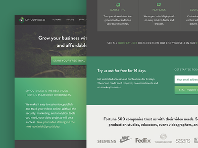 SproutVideo Homepage Case Study playbook gradients startup saas marketing homepage sproutvideo