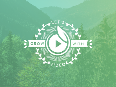 Grow with Video Campaign sproutvideo earth day responsive marketing landing page trees seal