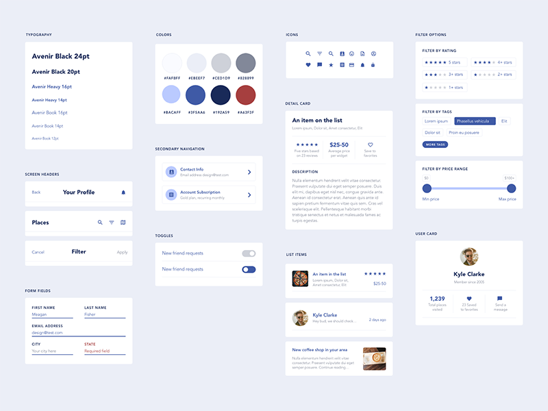 Free UI Elements for Mobile App Design by Meagan Fisher on