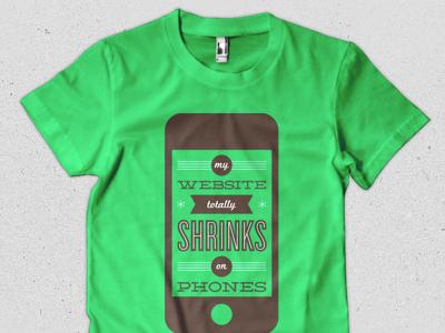 My website totally shrinks on phones