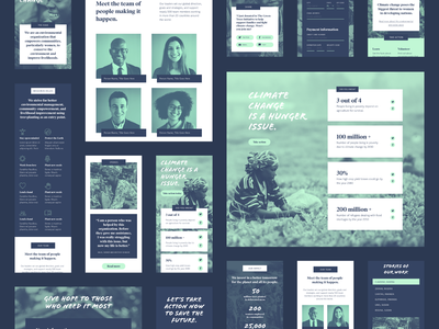 Non-profit UI Kit Components ui kits responsive website responsive non-profit marketing website made with adobe xd landing page free ui kit free template free resource charity adobe xd adobe