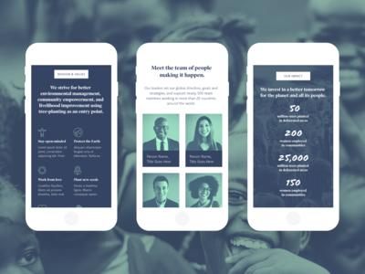 Non-profit UI Kit Mobile Screens