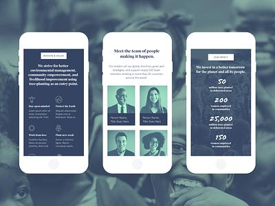 Non-profit UI Kit Mobile Screens ui kits responsive website responsive non-profit marketing website made with adobe xd landing page free ui kit free template free resource charity adobe xd adobe