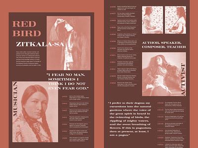 Zitkala-Sa acumin pro craw modern timeline inspiration feminism native american biography profile bio landing page adobexd made in xd