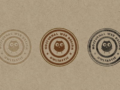 Stamp of Owltasticness futura texture logo stamp brown