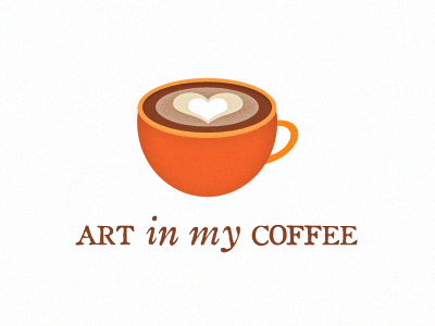 Messing around with logo ideas for Art in my Coffee
