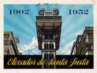 Santa justa postcard