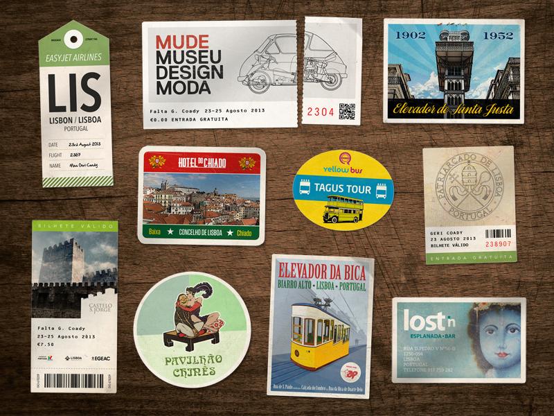 Lisbon souvenirs lisbon souvenir vintage retro worn postcard sticker ticket lisboa portugal travel