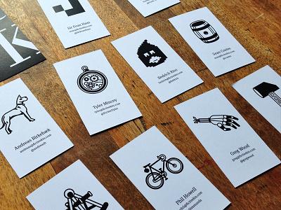 Fictive cards card icon totem monochrome business card fictive kin meta serif