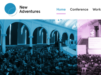 New Adventures rebrand typography apercu design logo naconf new adventures