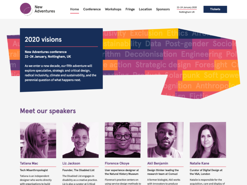New Adventures 2020 web design designs web apercu colour color event conference design naconf new adventures