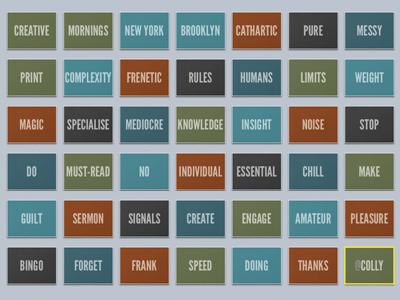 CMNY slides slides deck keynote colour brooklyn nyc league gothic creative mornings new york
