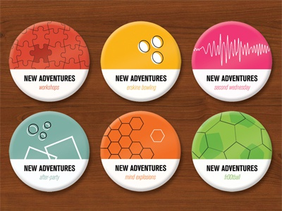 Badges naconf new adventures buttons badges