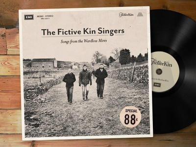 The Fictive Kin Singers music cover record album vinyl fun fictivekin fictive kin
