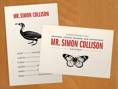 New cards cards comp business cards