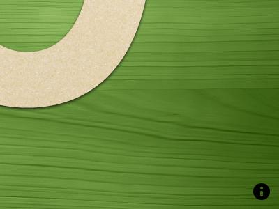 Number Tracing green woodgrain minimal app ipad icon