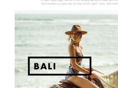 O'Neill Blog Post content layout minimal white black oneill blog