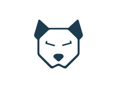 Dog Logo logo design minimal dog