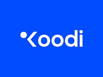 Koodi - logo joren brosens finish blue logo logodesigns branding agency branding abstract code logodesign