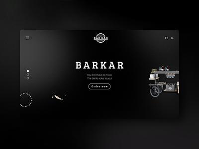 Barkar - website joren brosens website design website designer website website design company icon ux vector blender3d blender 3d uiux website builder webdesign bar cart webshop