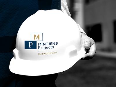 Mintjens Projects - helmet joren brosens helmet branding agency brand designer typography illustration realestate building hat graphic design logo branding graphicdesign