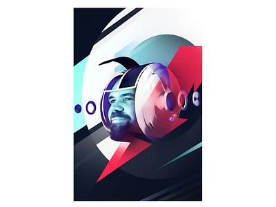 Space portrait 3d blender 3d blender fast helmet futurism destruction portrait coverart speed daftpunk space