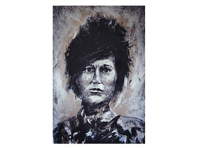 Portrait painted brush