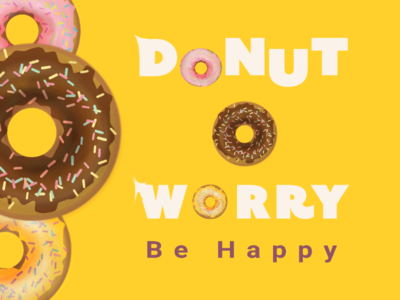 Donut Worry Be Happy Banner