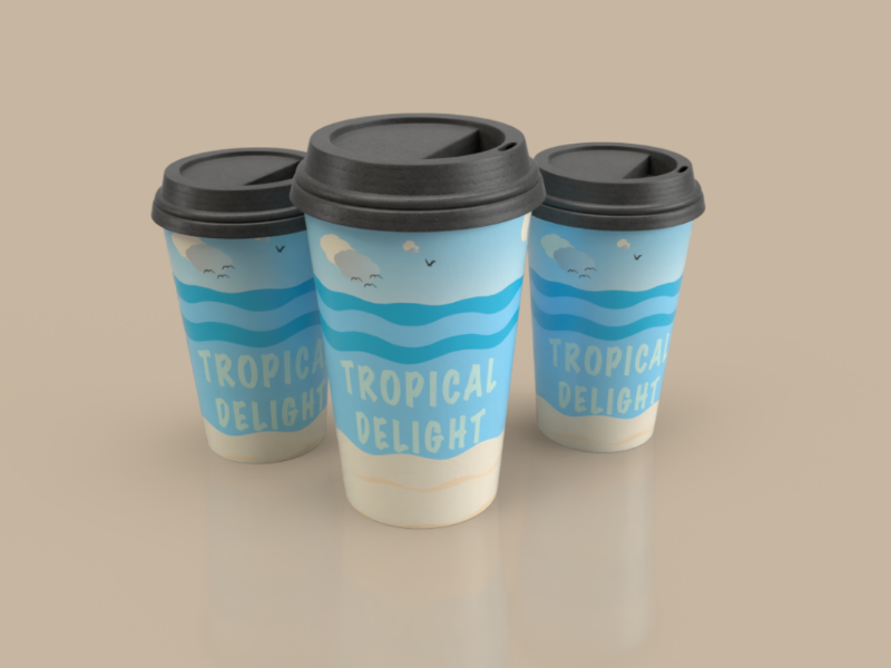 Coffee cup design labels art beach color illustration coffee cup packaging branding product design mockups dimensions 3d graphic design